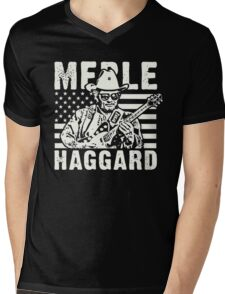 Merle Haggard Mens V-Neck T-Shirt
