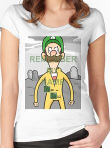 Luigi remember my name. Women's Fitted Scoop T-Shirt