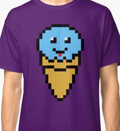 Pixel Blue Ice Cream Cone Classic T-Shirt