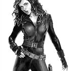 Black Widow - Avengers - Pencil Drawing by EJTees