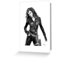 Black Widow - Avengers - Pencil Drawing Greeting Card