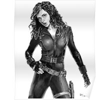 Black Widow - Avengers - Pencil Drawing Poster