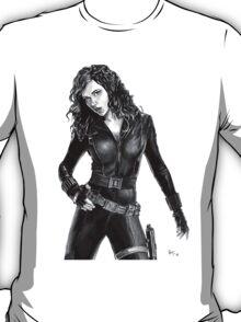 Black Widow - Avengers - Pencil Drawing T-Shirt