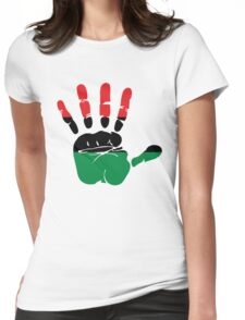 International African American Unia Flag Womens Fitted T-Shirt
