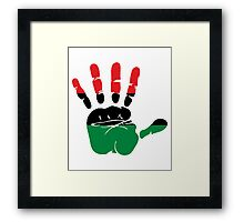 International African American Unia Flag Framed Print