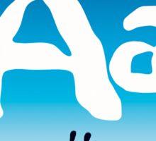 Aa + sign language symbol Sticker