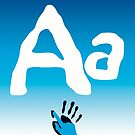 Aa + sign language symbol by Robyn Williams