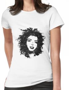 Lauryn Hill (monochrome) Womens Fitted T-Shirt