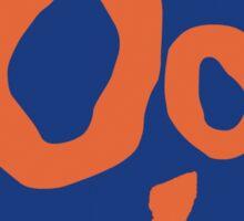 Oo + sign language symbol Sticker