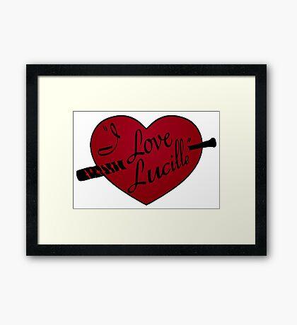 I Love Lucille Framed Print
