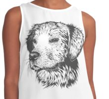 Puppy Pencil Drawing Contrast Tank