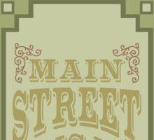 Main Street Trash Can Design Sticker