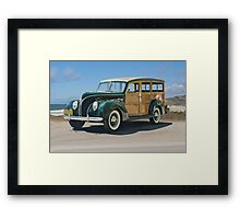 1938 Ford  81A 'Woody' Station Wagon Framed Print