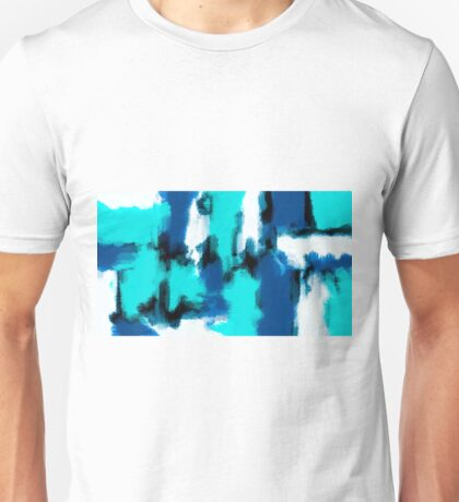 blue black and dark blue painting abstract Unisex T-Shirt