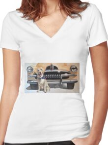 FERGUS AND HIS FJ Feat. 1954 FJ Holden Women's Fitted V-Neck T-Shirt