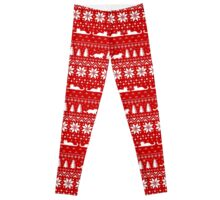 Cat Lover's Christmas Sweater Pattern Leggings
