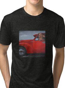 SHOTGUN! Feat. 1954 FJ Holden Tri-blend T-Shirt