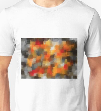 red orange and black square pattern  Unisex T-Shirt