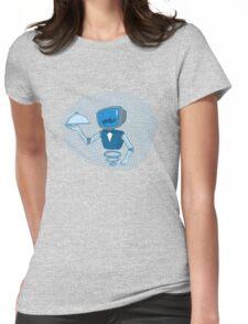 Robot butler Womens Fitted T-Shirt