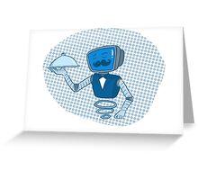 Robot butler Greeting Card