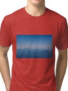 Conversation in Blue Tri-blend T-Shirt