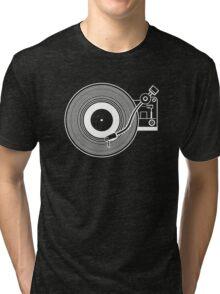 Record player vinyl Tri-blend T-Shirt
