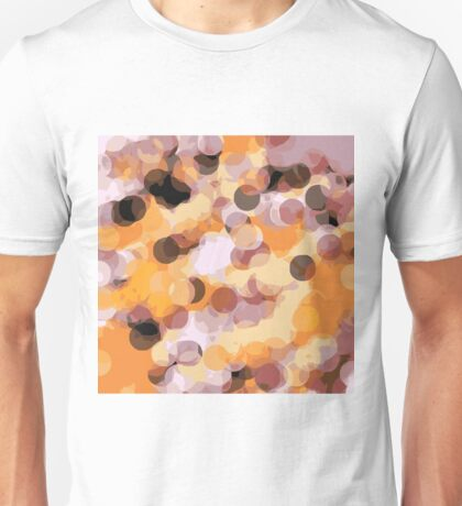 orange brown and black circle abstract Unisex T-Shirt