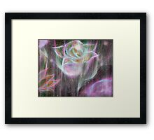 Hard to be soft. Tough to be tender. Framed Print