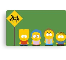 The Simpsons / South Park Canvas Print