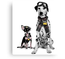 K9 Flight School. Canvas Print