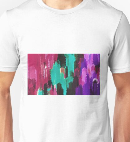 red pink purple green and black painting  Unisex T-Shirt