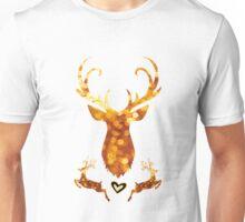 golden Rentier weihnacht Xmas glamour leuchten glitzern frau Unisex T-Shirt
