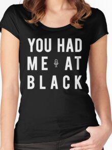 Classic Collection- Black Women's Fitted Scoop T-Shirt
