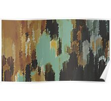 brown blue and green painting texture abstract  Poster