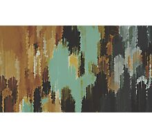 brown blue and green painting texture abstract  Photographic Print