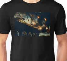 Military Tank on Battlefield 2 Unisex T-Shirt