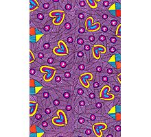 Happy Hearts And Broken Hearts Doodle Pattern Photographic Print