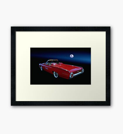 "1961 Ford "" Bullet Bird "" Framed Print"