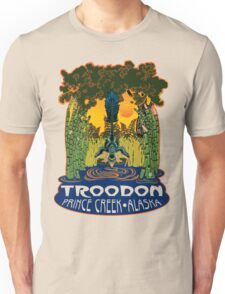 Retro Troodon in the Rushes (light-colored shirt) T-Shirt