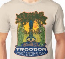 Retro Troodon in the Rushes (light-colored shirt) Unisex T-Shirt