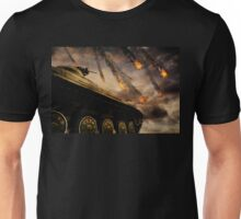 Military Tank on Battlefield 3 Unisex T-Shirt