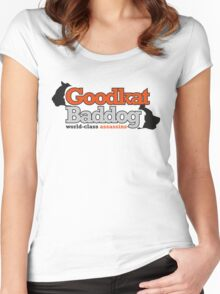 Goodkat & Baddog (Lucky Number Slevin) Women's Fitted Scoop T-Shirt