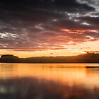 Fire in the sky at Loch Linhe, Scotland by Cliff Williams