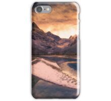 Mountain on fire iPhone Case/Skin
