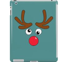 A Red Nose Reindeer Face iPad Case/Skin