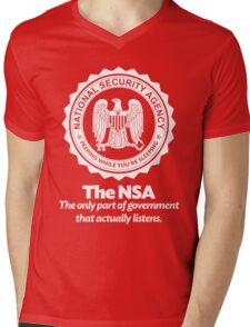The NSA Mens V-Neck T-Shirt