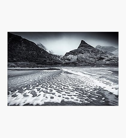Snow patches Photographic Print