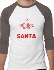 Be Nice To The Cashier Santa Is Watching  Men's Baseball ¾ T-Shirt