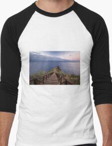 Lonely Path to the Seacoast - Travel Photograhy Men's Baseball ¾ T-Shirt