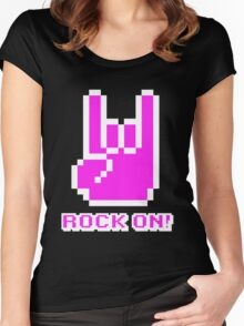 Rock On! (Pink) Women's Fitted Scoop T-Shirt